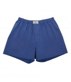 Мужские трусы-боксеры, французский синий цвет, переплетённая ткань - 100% хлопок