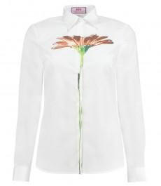 Женская белая рубашка, цветочный дизайн, коллекция
