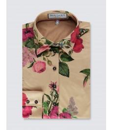 Женская хлопковая  полуприталенная рубашка коллекции Бутик