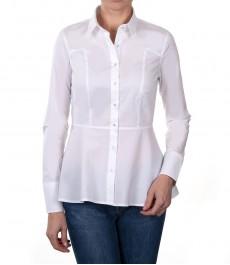 Женская приталенная рубашка стрейч, белая