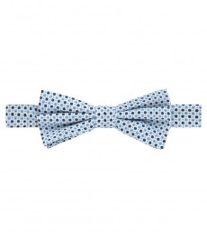 Men's Navy & White Cotton Dots Bow Tie - 100% Silk