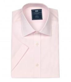 Полуприталенная мужская рубашка Clifford, розовая, короткий рукав