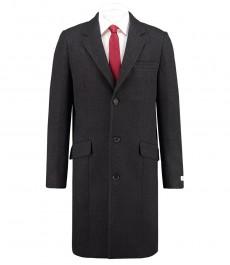 Мужское пальто, угольно-серого цвета