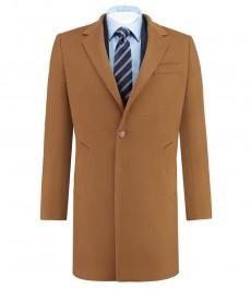Мужское пальто, шерсть кашемир, цвет кэмел