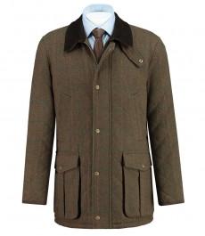 Традиционное шерстяное пальто, коричневое
