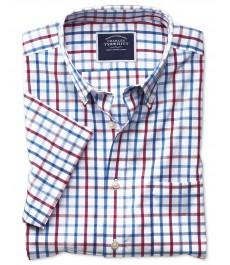 Мужская приталенная рубашка Charles Tyrwhitt, короткий рукав