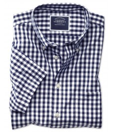 Мужская классическая рубашка Charles Tyrwhitt, короткий рукав