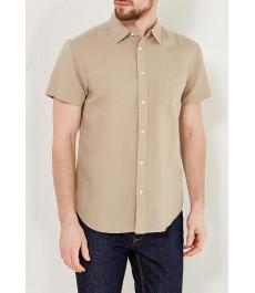 Мужская рубашка Wrangler , лён и хлопок с коротким рукавом