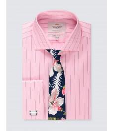Мужская экстраприталенная рубашка, рукав под запонку