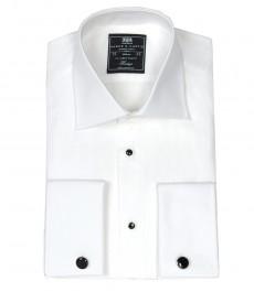 Мужская белая рубашка, приталенная, вечерняя