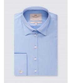 Женская приталенная голубая английская рубашка, коллекция Executive