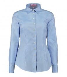 Женская приталенная рубашка, ткань твил, двойная манжета-хлопок