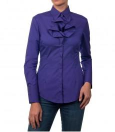 Приталенная женская блузка с воротничком