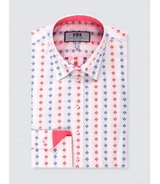 Женская приталенная английская рубашка, рукав под пуговицу