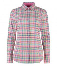 Women's Multi Colour Fitted Multi Check Shirt - Single Cuff