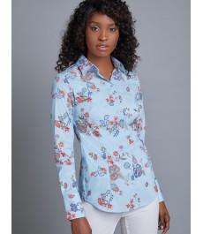 Женская приталенная английская рубашка