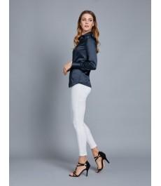 Женская офисная приталенная атласная рубашка H&C
