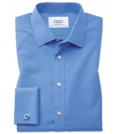 Мужская классическая английская рубашка Charles Tyrwhitt, рукав под запонку, не требует глажки