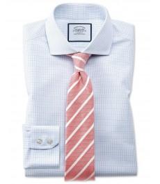 Мужская суперэкстраприталенная рубашка Charles Tyrwhitt, в мелкую клетку,  коллекция на лето