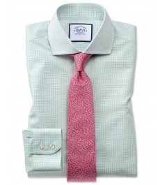Мужская экстраприталенная рубашка Charles Tyrwhitt, в мелкую клетку,  коллекция на лето
