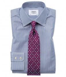 Мужская приталенная рубашка Charles Tytwhitt, тёмно-синяя Бенгальская полоска