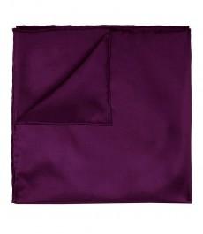 Мужской стильный насыщенный фиолетовый платок - 100% шёлк