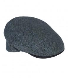 Женская твидовая кепка, голубая