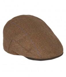 Женская твидовая кепка, коричневая