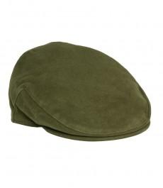 Темно-зеленая женская кепка, шерстяная ткань