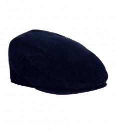Темно-синяя женская кепка, шерстянная ткань