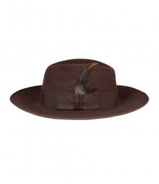 Женская шляпа Медисон, шоколад, фетровая шляпа
