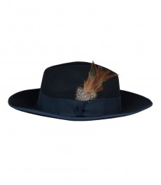 Темно-синяя женская шляпа, медисон фетровая шляпа