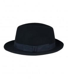 Темно-синяя женская шляпа Henley  мягкая фетровая