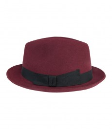 Женская фетровая шляпа, Henley, темно-бордового цвета