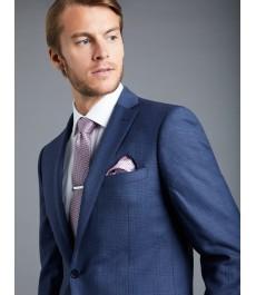 Мужской экстраприталенный ярко-синий пиджак от костюма из шерсти 120s