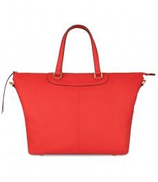 Женская сумка, красная, кожа