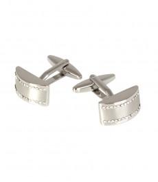 Женские серебряные запонки под алмаз
