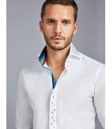 Мужская английская рубашка Curtis, c контрастными деталями, ЛИМИТИРОВАННАЯ КОЛЛЕКЦИЯ