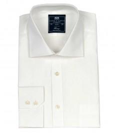 Мужская классическая белая бизнес рубашка Ludlow с карманом, ткань поплин - Одинарная манжета