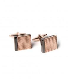 Мужские запонки, цвет розовое золото, квадрат