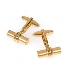 Мужские золотистые запонки в виде бочонков
