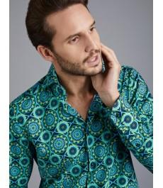 Мужская модная притьаленная рубашка Curtis