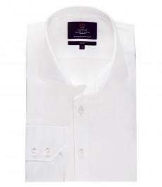 Мужская модная белая приталенная рубашка Curtis - с высоким воротником