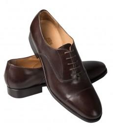 Мужские кожаные оксфорды HUDSON, коричневые