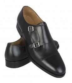 Обувь Hawes & Curtis, черные с двойными пряжками, кожа