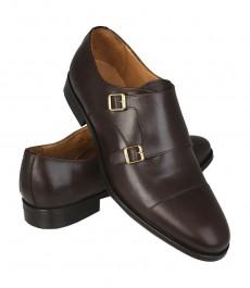 Обувь Hawes & Curtis, коричневые с двойной пряжкой, кожа