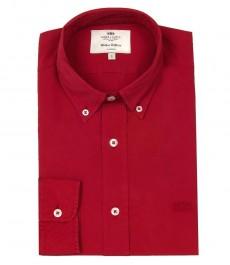 Мужская полуприталенная повседневная рубашка Boston Button Down
