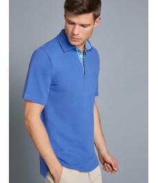 Мужская классическая рубашка-поло - короткий рукав