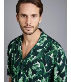 Мужская модная рубашка с гавайским принтом, свободный стиль