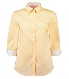 Женская полуприталенная рубашка с рукавом 3\4